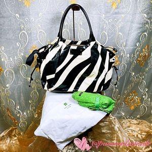 EUC KATE♠️SPADE Baby Zebra Stevie Diaper Bag L